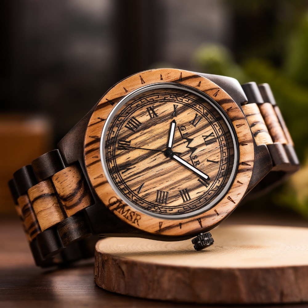 2018 Reloj Fashion Large Dial Natural Wooden Quartz Men <font><b>Watch</b></font> Wood Casual <font><b>Watches</b></font> Classic Clock Wristwatch Relogio Masculino <font><b>M13</b></font> image