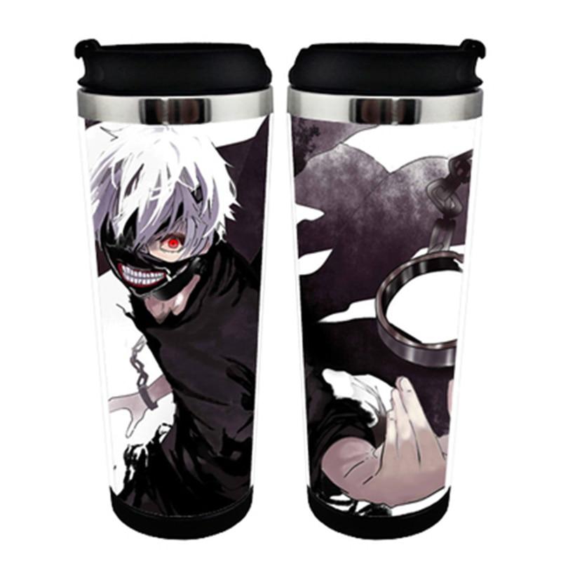 Japanese Anime Tokyo Ghouls Kaneki Ken Black High-capacity Vacuum Cup Bottle #q4