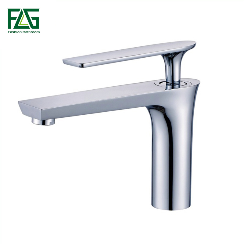 FLG Modern Washbasin Design Bathroom Faucet Mixer Waterfall Hot And Cold Chrome/Black Water Taps For Basin Of Bathroom 254-11 цена
