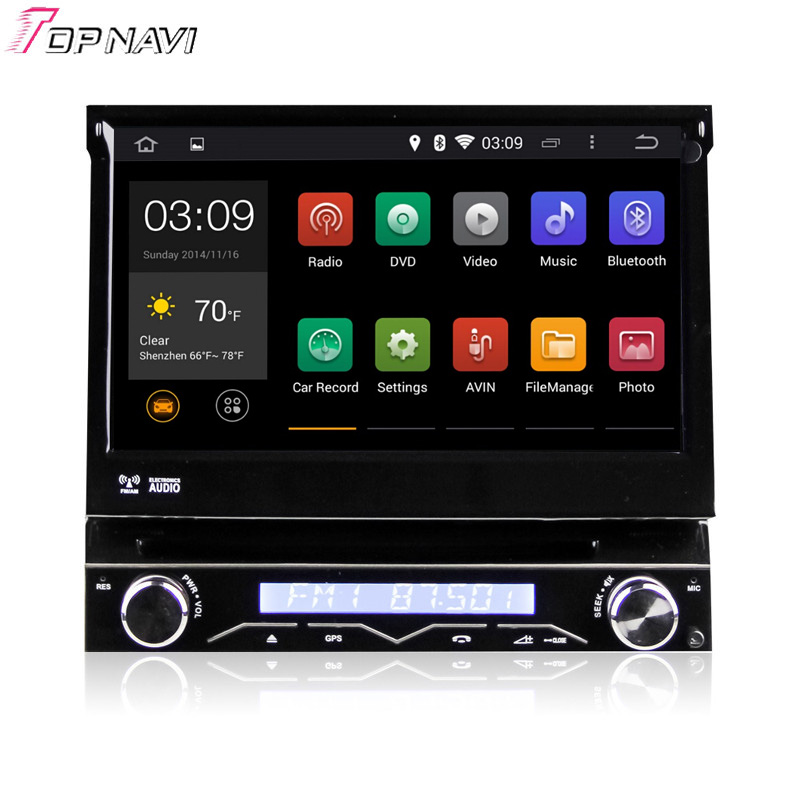 """7"""" Single Din Quad Core Android 5.1 Car DVD GPS Radio For Universal With Multimedia Stereo 16GB Flash Mirror Link"""