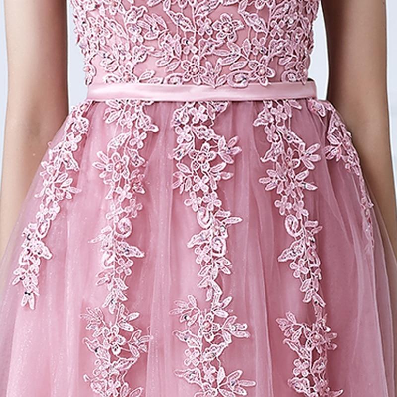 SOCCI Weekend Pink Appliques Lace Tulle Ұзақ Кешке - Ерекше жағдай киімдері - фото 5