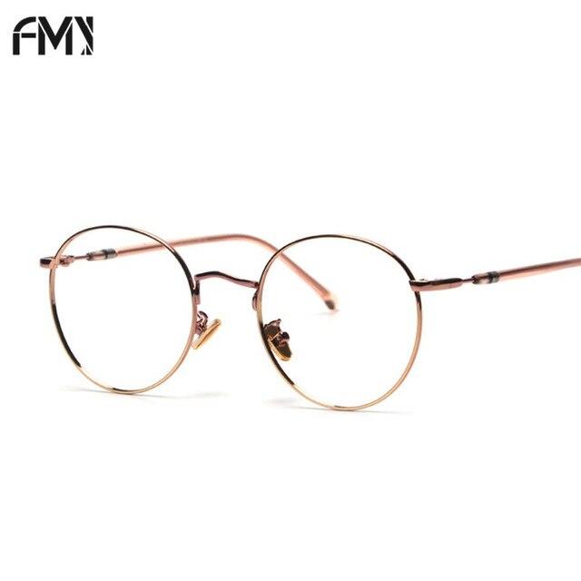 379b6f92de7 FMY Unisex Vintage Round Eyewear With Clear Lens Reading Glasses Goggle  Plain Mirror Myopia Optic Frame Eyeglasses UV400 58017