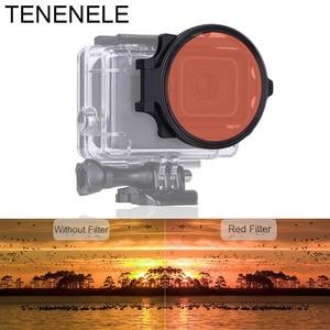 Image 4 - กล้องกีฬา 58 มิลลิเมตรสีแดง/สีเหลือง/Magenta Filter มาโครเลนส์สำหรับ GoPro Hero 6/5 สีดำใต้น้ำดำน้ำอุปกรณ์เสริม