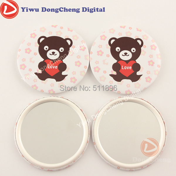 [factory direct sale] 300stes3( 75mm)  Mirror Badge Button Supply Materials for badge button maker DCJZ-75p