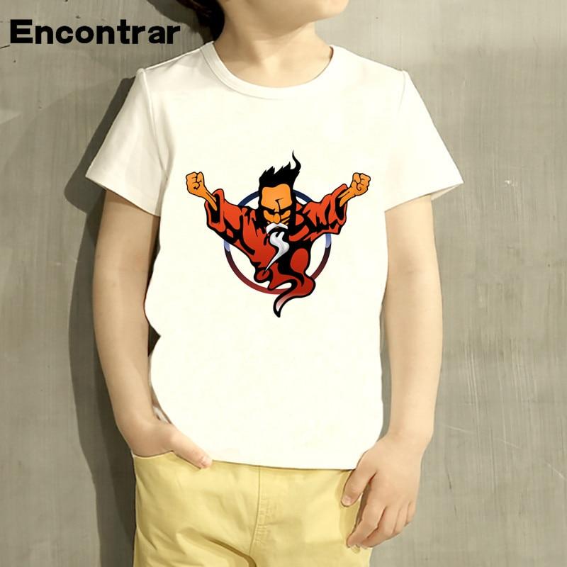 Childrens Thunderdome wizard Logo Design Baby Boys/Girl TShirt Kids Funny Short Sleeve Tops Children Cute TShirt,HKP486