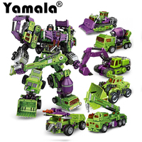 Yamala Transformation Ko Kids Classic Robot Cars Devastator Figure Toys