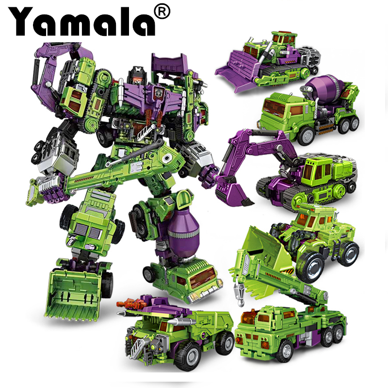 [Yamala]  Transformation ko Version Kids Classic Robot Cars Devastator Right Thigh Action Figure Toys For Children Model Toy hot sale transformation devastator metal part kbb mp10 v optimus prime figure classic toys robot cars for kids christmas gifts