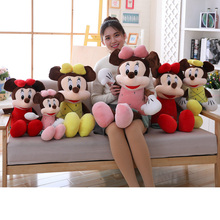 цена на Stuffed Toy Mickey Mouse Mickey & Minnie Plush Toys 50 /70 /90 Cm For Children