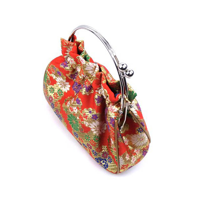 a49ff9c99328 2016 Chinese fashion design brocade women handbag metal frame evening party  tapestry bags luxury embroidery dinner clutch T122-in Top-Handle Bags from  ...