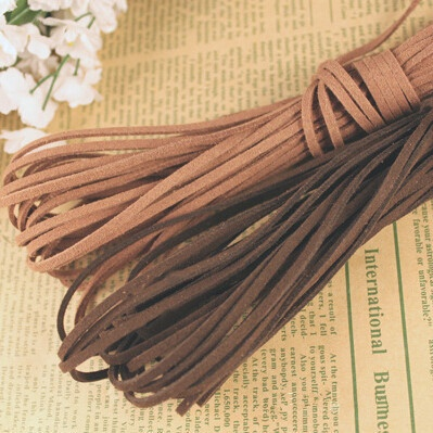 3mm 5 Yards Black Macrame Braided Faux Suede Cord Leather Lace DIY Handmade Beading Bracelet Jewelry Making Flat String