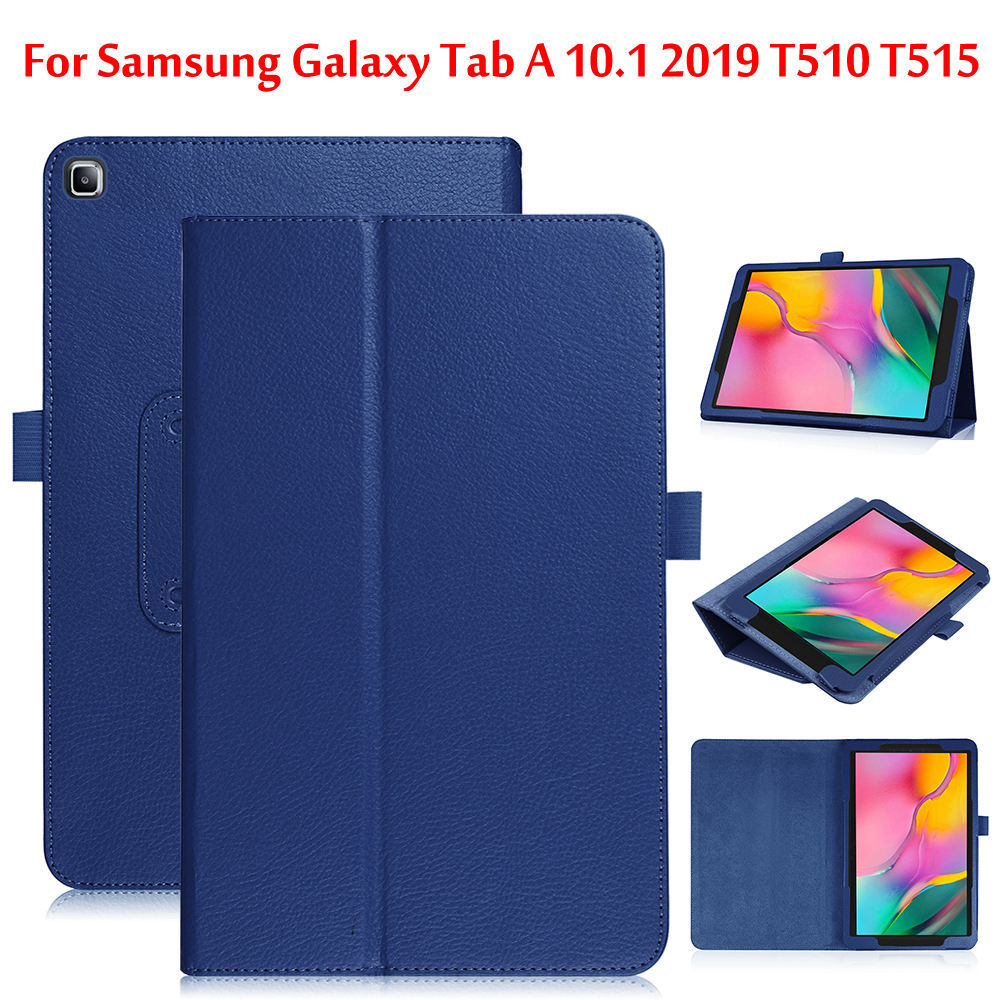 <font><b>Case</b></font> For Samsung Galaxy Tab A 10.1 2019 T515 <font><b>T510</b></font> <font><b>SM</b></font>-<font><b>T510</b></font> <font><b>SM</b></font>-T515 10.1 inch PU Leather Folding Cover image