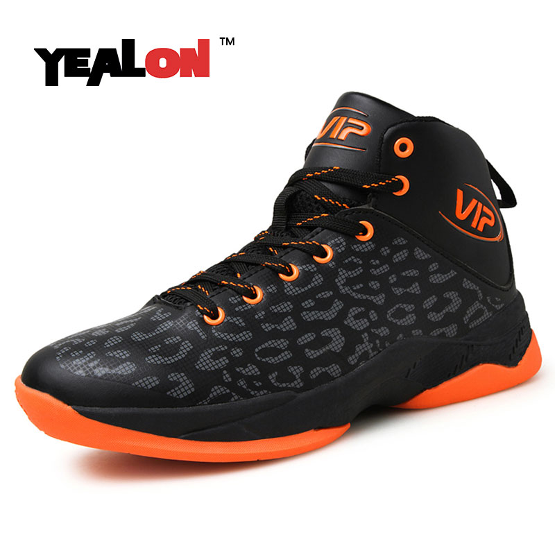 ФОТО YEALON Basketball Shoes Men Zapatillas Baloncesto Hombre Basket Homme Men'S High Ankle Sneakers Basketball Boots 2016