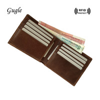 Rfid Shielded Sleeve Card Blocking Genuine Leather Men Wallet Top Quality Credit Card Holder 2017 Id