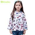 KEAIYOUHOU 2017 Spring Autumn Girls Jacket Kids Butterfly Print Raincoat Coat Windbreaker Jacket For Girls Coat Children Clothes