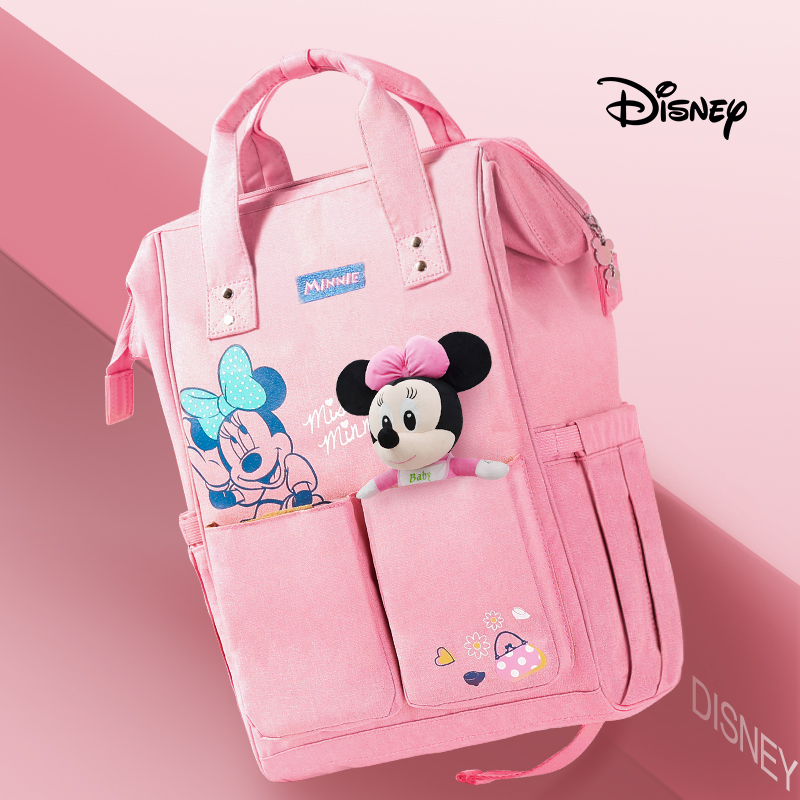 Disney Backpacks Mummy Bag Multifunction Large Capacity Double Shoulder Travel bags Baby Handbag Bottle Insulation Bags DS9004