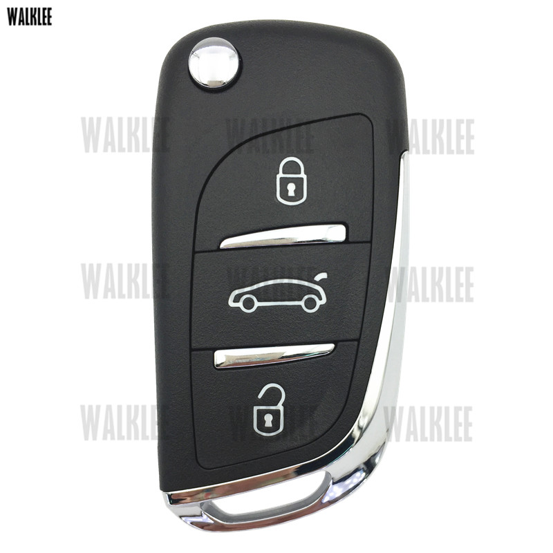 Image 2 - WALKLEE Upgrade Remote Key Keyless Entry Transmitter Suit for Peugeot 208 2008 301 308 508 434MHz with ID46 (7941) ChipCar Key   -