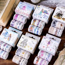 8Pcs/set Gorgeous Girl Series Masking Washi Tape Set Creative DIY Decorative Adhesive Scrapbooking Bullet Journal Supplies