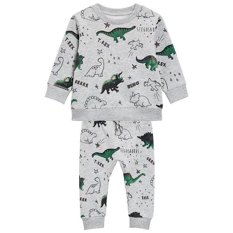 outlet store sale buy sale online store Jumping Meters Dinosaur Grey Sweater Sets Baby Boys Children's ...