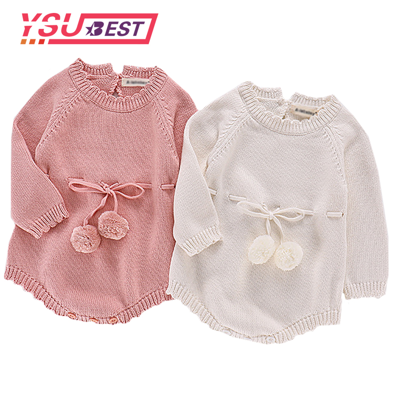Newborn Baby Girls Romper Knitted Rompers Crochet Baby Girls Cross Strap Jumpsuits Bib Pants Kids Clothes Girls Boys Overalls цена 2017