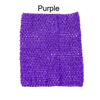 Вязанная крючком юбка-пачка для маленьких девочек, 9 дюймов, топы-трубы, обхват груди, широкая вязаная крючком, топы, юбка-пачка «сделай сам», платье, поставщик - Цвет: Purple Tutu Top