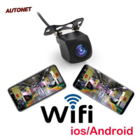 AUTONET WIFI HD Car Reverse Camera Wireless Car Rear View Camera for IOS and Android Phone With Video Recording Function