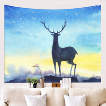 New Deer Series Wall Hanging Tapestry Decorative Cloth Polyester Home Decor Background Tablecloth Carpet Printing Curtain