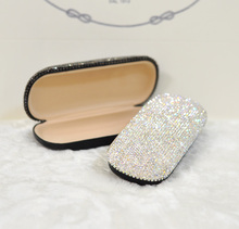 Glasses case women Rectanle eye glasses box with crystal Fashion storage cases Gifts