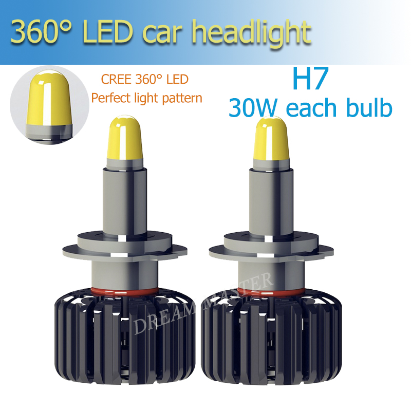 1 set Super Bright For Car LED bulbs H1 H3 h7 h11 9005 9006 3D 360 Degree Car Headlight Bulbs 30w 6000lm Automobiles Lamps 6500K цена