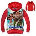 Moana hoodies meninas meninos camisola crianças de algodão com capuz t camisa meninos finos hoodies roupa dos miúdos dos desenhos animados vestuário Primavera Outono
