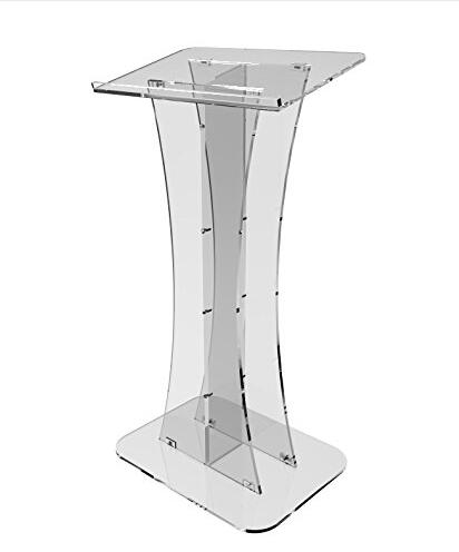 Wholesale Free Shipping Beautiful Easy Acrylic Podium Clear Lectern Church Pulpit Pulpit Furniture