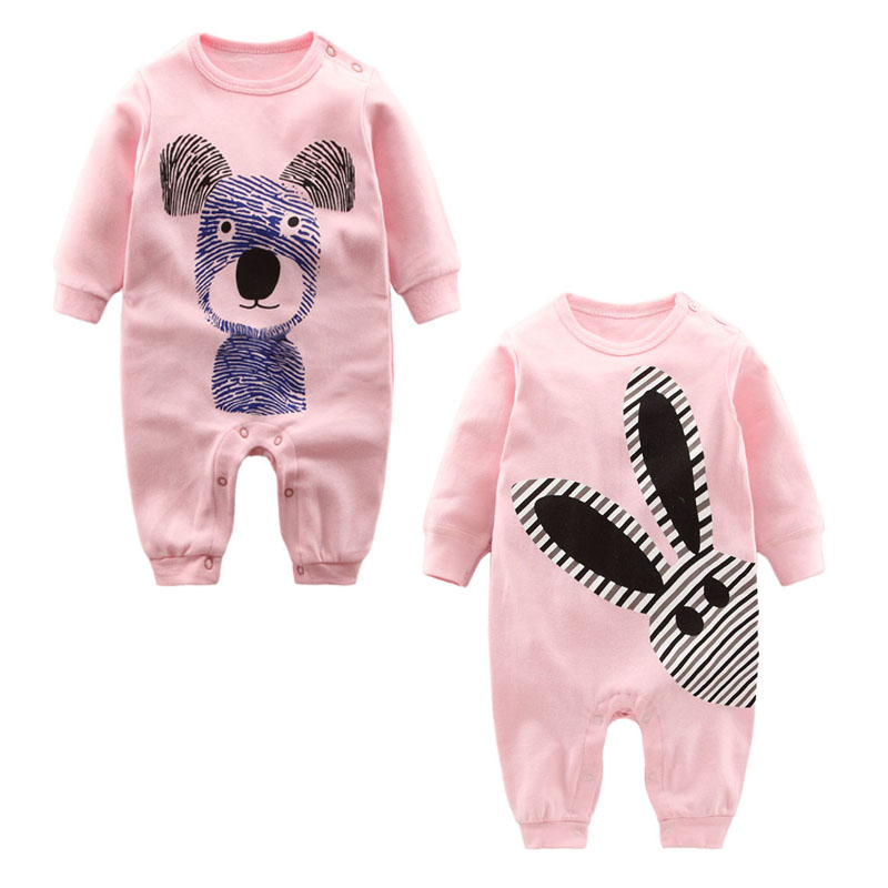 Newborn baby clothes Winter Long sleeve cotton Baby romper 2018 Pajamas Baby clothes girl infant ropa bebe romper for baby hy3621 cotton baby s long sleeve infant romper clothes w hat white black red size s