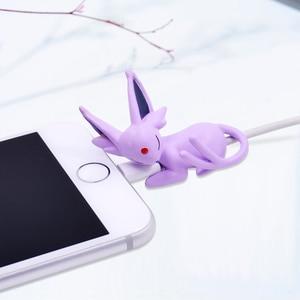 Image 4 - كابل لفاف على شكل عضة لطيف من CHIPAL لهاتف iPhone وusb واقي لكابل البيانات منظم للسلك واقي لدمية على شكل عضات كرتونية