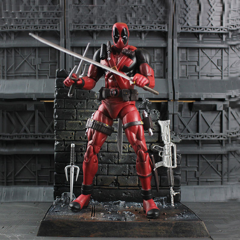 Pandadomik Deadpool Original PVC 8inch Action Toy Figure Movie Doll Model Avengers Actions Figurine Marvel Toys Gifts for Boys pj masks parking toy catboy gekko anime figurine doll pvc masked peripheral characters pjmasks action figure boys toys gifts