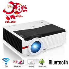 Best price CAIWEI Android Blurtooth Wifi LED Projector 1080p HD Home Movie Video Smart Phone TV PC Games LED Multimedia VGA USB HDMI