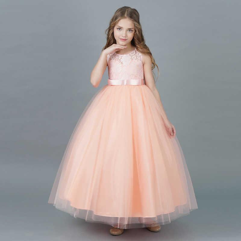 b17787e1b ... Rosa Formal largo baile vestido graduación vestidos para niñas ceremonia  de boda evento adolescente vestido Niñas ...