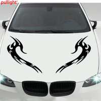 Car Hood Car Body Tribal Flames Vinyl Sticker Decals x 2 Left and Right