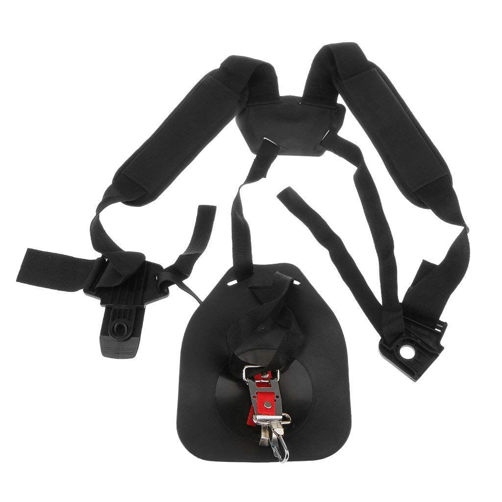 Padded Double Strap Harness For Brushcutter Trimmer