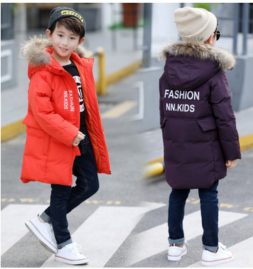 Boy 2017 new Korean thick warm coat winter for size 6 7 8 9 10 11 12 years child fashion casual down jacket outerwear baby boy and girl 2017 new korean thick down jacket winter for size 1 2 3 4 years child long coat kid tide casual outerwear