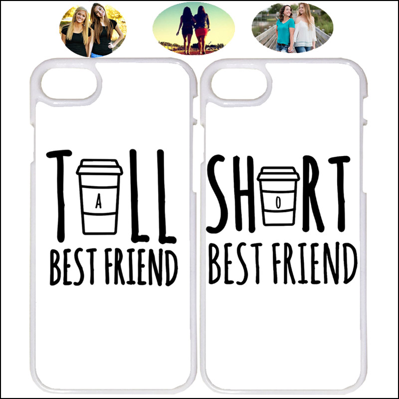 low priced eb6e3 2e340 US $3.0 |Tall and Short Matching BFF Best Friend Phone Case Cover For  iPhone X 7 8 Plus XR Xs Max 6 6s 5 5s Samsung + Tempered Glass A47-in  Fitted ...