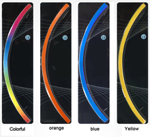 Free shipping New Bike Bicycle car styling Motorcycle Wheel Tire Tyre Reflective Stickers Strip Decal Tape Safety 18inch 7color