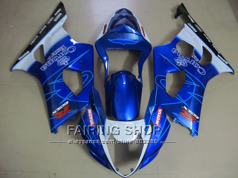 New hot bodywork fairing kit for Suzuki GSXR1000 03 04 K3 K4 deep blue white injection fairings set GSXR 1000 2003 2004 WT38 100% fit for suzuki injection molding gsxr1000 fairing kit k3 k4 2003 2004 brown black fairings set gsxr 1000 03 04 ap34