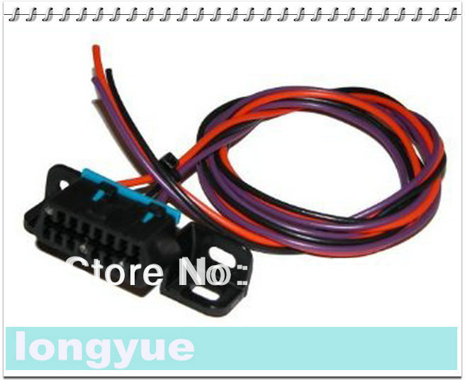 Longyue 20pcs Obd2 Obdii Pigtail Connector Harness 30cm Wire: Pigtail Wiring Harness At Jornalmilenio.com