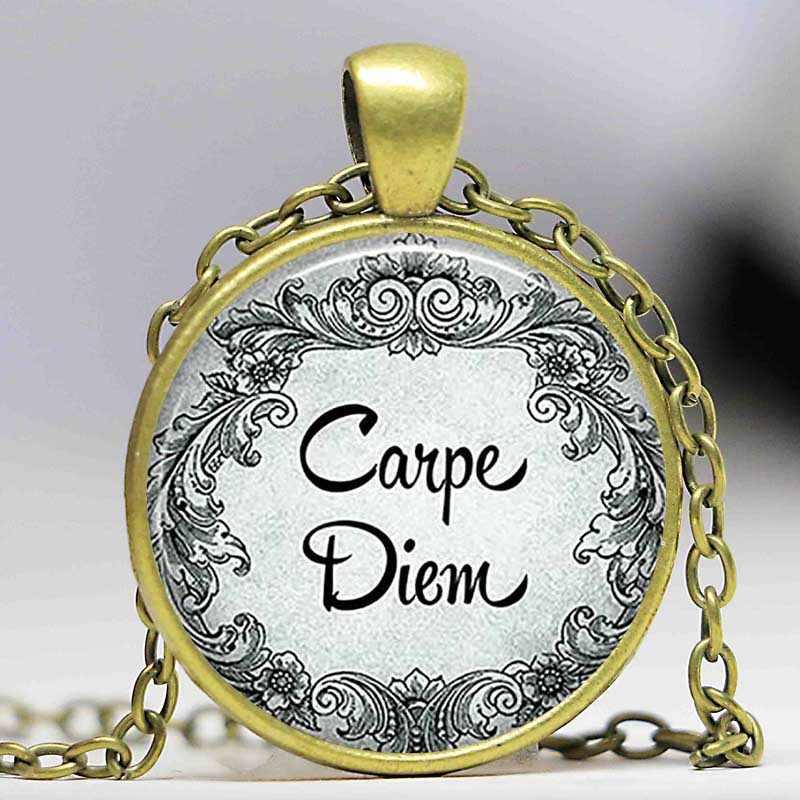 Carpe Diem Kolye Kaçırmamak Gün İlham Alıntı Takı Güçlendirme kolye kolye