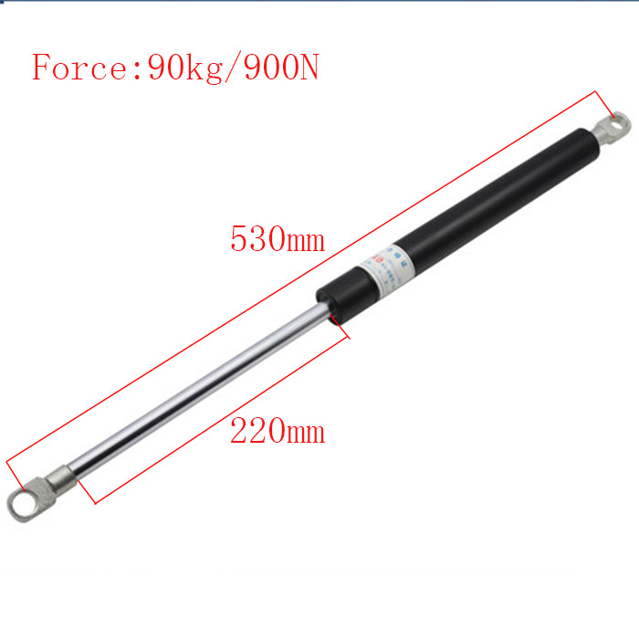 530*220mm Auto Gas Springs for Car 90KG Force 220mm Stroke Gas Spring for Furniture Gas Strut Door 530mm Central Distance free shipping500mm central distance 200mm stroke 80 to 1000n force pneumatic auto gas spring lift prop gas spring damper