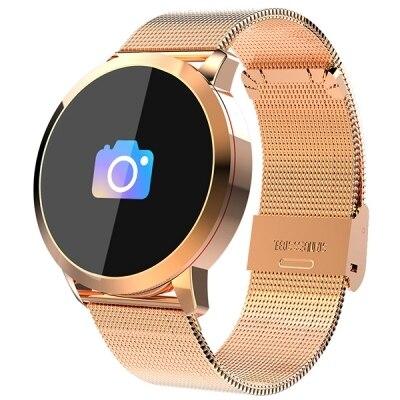 NEWWEAR Q8 Smartwatch стеклянный гранулированный экран Gorilla сердечного ритма трекер сна геомагнитного Сенсор gps международных