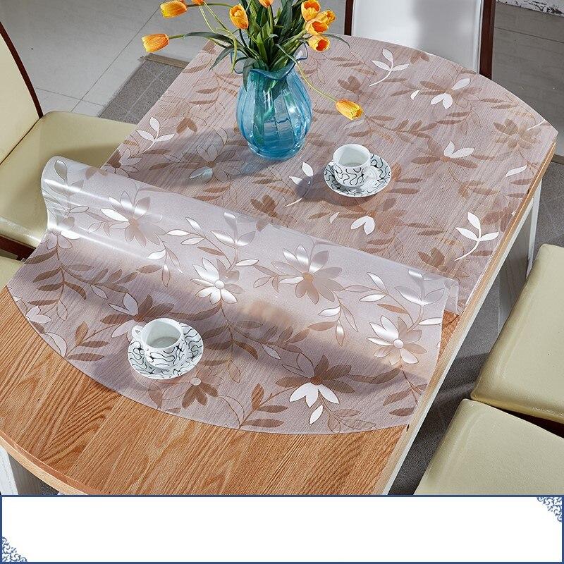 Suave tela de mesa transparencia PVC impermeable mantel hule cocina ...