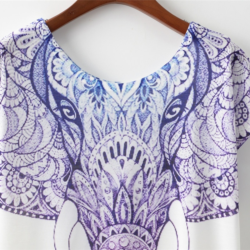 Women's Elephant Print T-Shirt 2