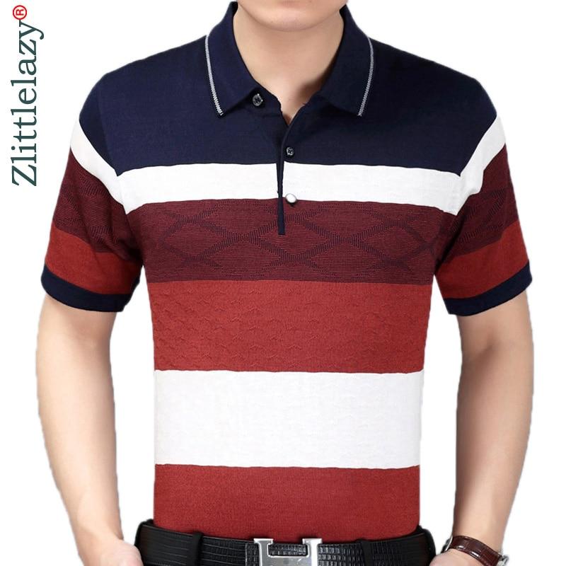 2019 summer short sleeve knitting   polo   shirt men clothes striped fashions   polos   tee shirts pol cool mens clothing poloshirt 270