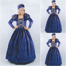 sc-091 Victorian Gothic/Vintage Dress Halloween Theater Movie dresses with puff sleeve Sz US 6-26 XS-6XL