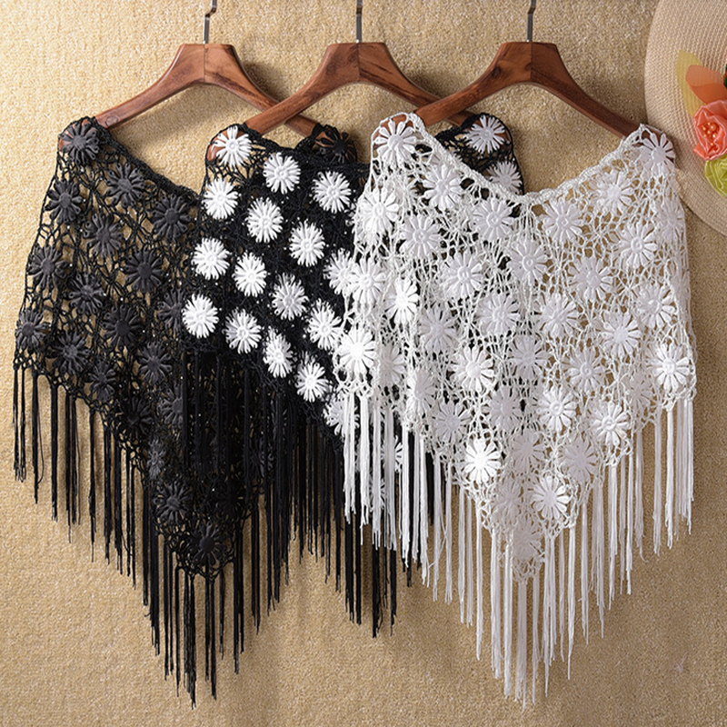 Flower Lace Shawl Crochet Pattern Favecrafts : Online Get Cheap Crochet Flower Scarf -Aliexpress.com ...